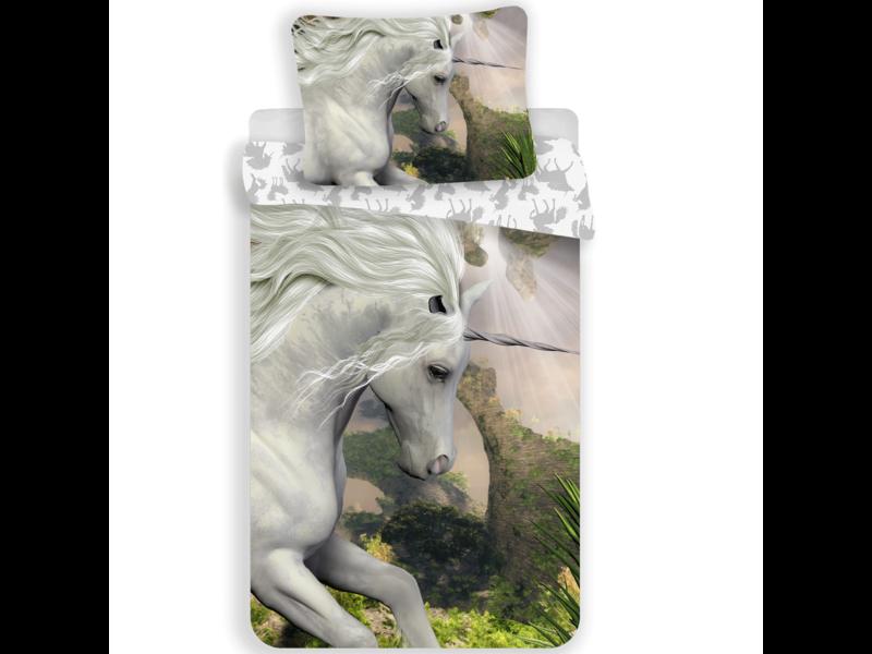 Unicorn Dekbedovertrek Mystical - Eenpersoons - 140  x 200 cm - Multi