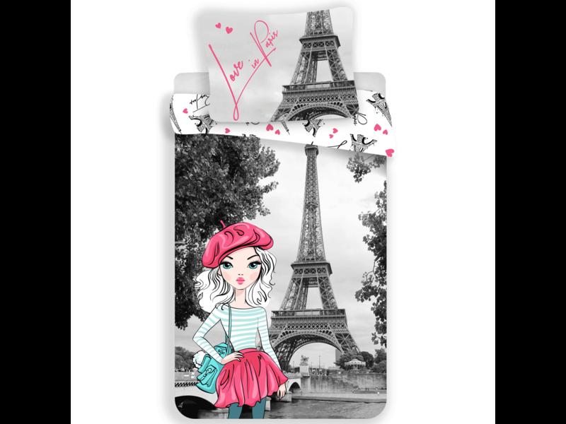 Parijs Dekbedovertrek Love - Eenpersoons - 140  x 200 cm - Multi