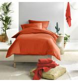 De Witte Lietaer Dekbedovertrek Katoen Satijn Olivia - Eenpersoons- 140 x 200/220 cm - Oranje