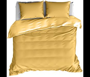 De Witte Lietaer Dekbedovertrek Katoen Satijn Olivia Golden Yellow 260 x 240 cm