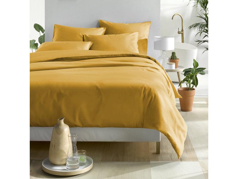 De Witte Lietaer Duvet cover Cotton Satin Olivia - Double - 200 x 200/220 cm - Yellow