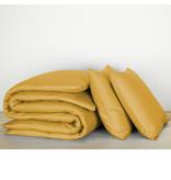 De Witte Lietaer Dekbedovertrek Katoen Satijn Olivia - Tweepersoons - 200 x 200/220 cm - Geel