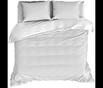 De Witte Lietaer Dekbedovertrek Katoen Satijn Olivia White 240 x 220 cm
