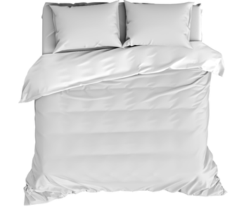 De Witte Lietaer Dekbedovertrek Katoen Satijn Olivia White 200 x 200/220 cm