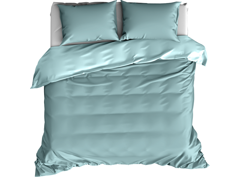 De Witte Lietaer Dekbedovertrek Katoen Satijn Olivia - Lits Jumeaux - 240 x 220 cm - Groen