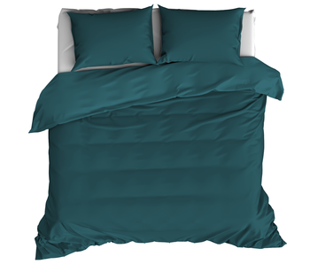 De Witte Lietaer Duvet cover Cotton Satin Olivia Lake Green 260 x 240 cm