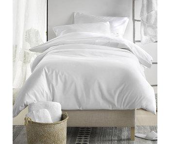 De Witte Lietaer Housse de couette Satin de Coton Olivia White 140 x 200/220 cm
