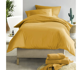 De Witte Lietaer Duvet cover Cotton Satin Olivia Golden Yellow 140 x 200/220 cm