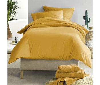 De Witte Lietaer Housse de couette Satin de Coton Olivia Golden Yellow 140 x 200/220 cm