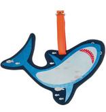 Floss & Rock Étiquette de bagage Shark - 16 x 11 cm - Avec porte-nom