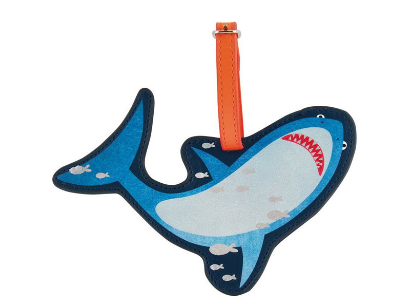 Floss & Rock Luggage Label Shark - 16 x 11 cm - With Name Tag