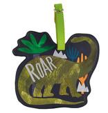 Floss & Rock Gepäcketikett Dinosaurier - 13,5 x 12 cm - Mit Namensschild