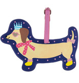 Floss & Rock Luggage Label Dog - 15 x 10 cm - With Name Tag