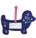 Floss & Rock Bagage Label Hond - 15 x 10 cm - Met Naamkaartje