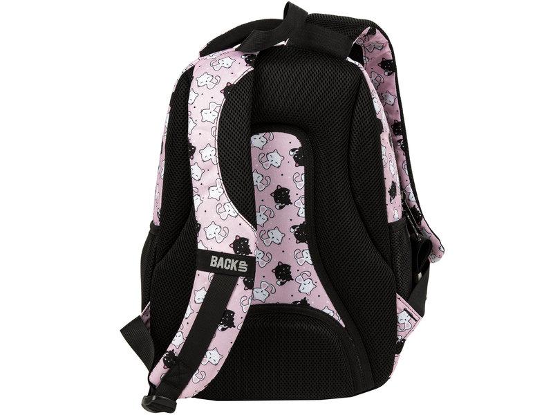 BackUP Backpack Sweet Kittens - 39 x 26 x 20 cm - Pink