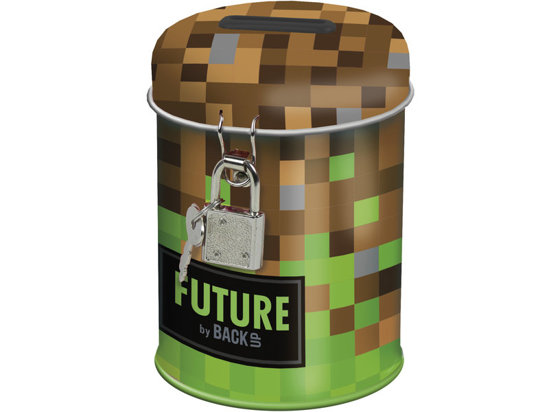 Game Money box with lock - 11.5 cm - Brown