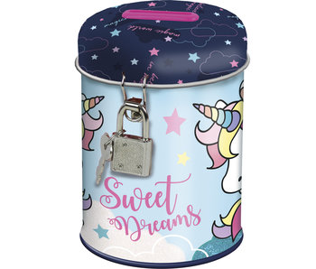 Unicorn Money box with lock 11.5 cm