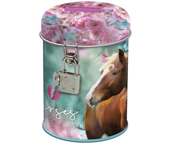 Animal Pictures Tirelire cheval avec serrure 11,5 cm