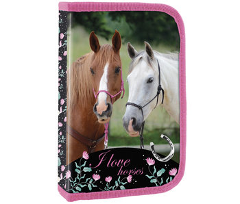 Animal Pictures Filled pencil case Horse - 22 pcs.