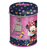 Disney Minnie Mouse Tirelire avec serrure - 11,5 cm - Rose
