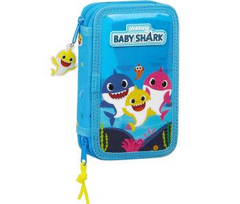 Baby Shark Étui à crayons rempli - 28 pcs.