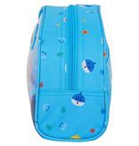 Baby Shark Beauty Case  - 26 x 16 x 9 cm - Blauw