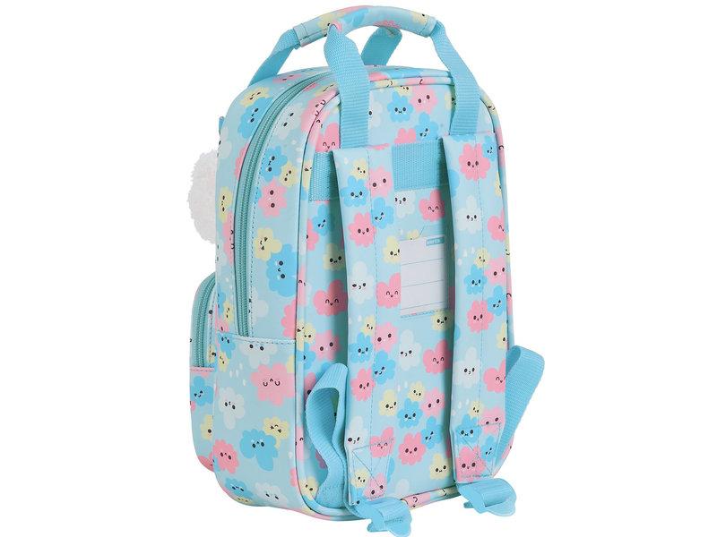 Safta Toddler Backpack Clouds - 28 x 20 x 8 cm - Blue