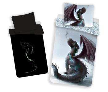 Animal Pictures Housse de couette Dragon Glow in the Dark 140 x 200