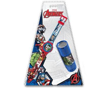 Marvel Avengers watch + flashlight SET