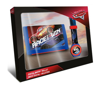 Disney Cars Stellen Sie Digitaluhr + Brieftasche ein