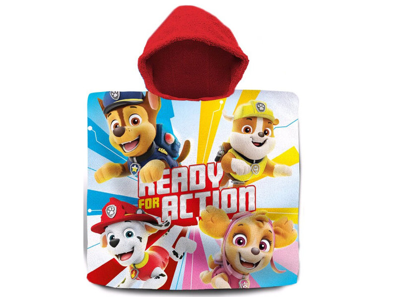 PAW Patrol Ready for Action poncho  - 60 x 120 cm - Multi