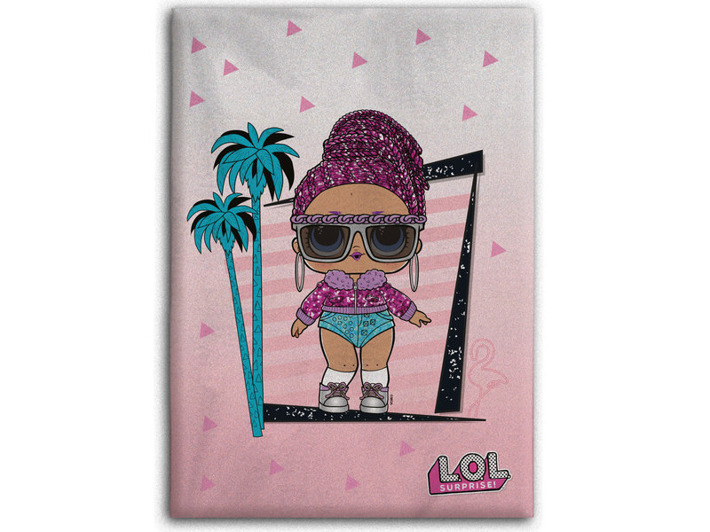 LOL Surprise! Fleece deken Palmtrees - 100 x 140 cm - Roze