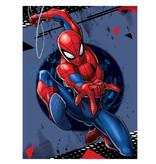 SpiderMan Fleece plaid Swing Shot - 100 x 140 cm - Blue