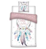 Dreamcatcher Dekbedovertrek Stars - Eenpersoons - 140  x 200 cm - Wit