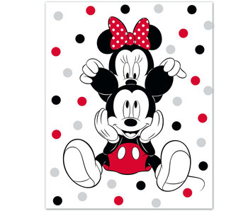 Disney Minnie Mouse Fleece karierte Ohren 100 x 140 cm