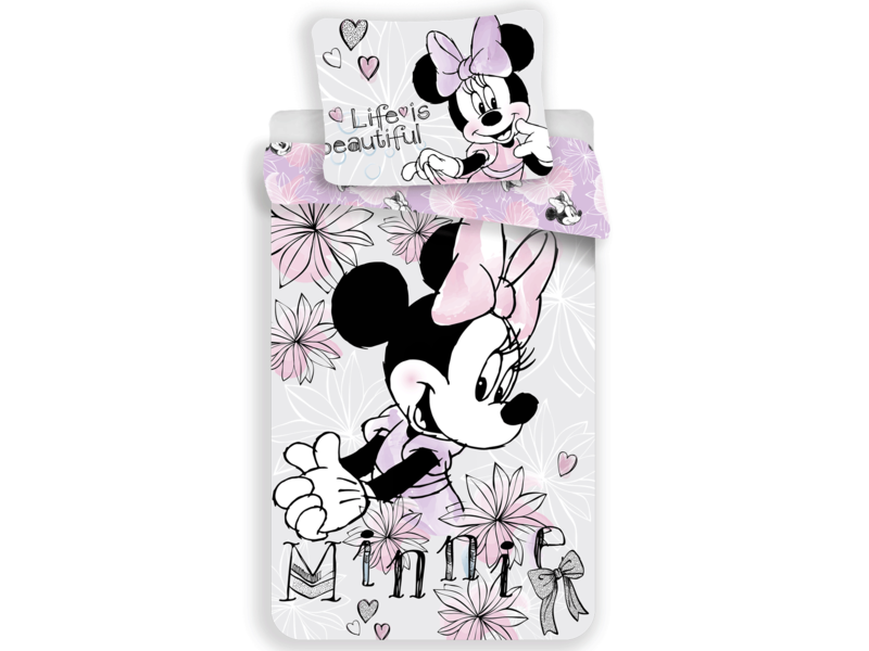 Disney Minnie Mouse duvet cover - Single - 140 x 200 cm - Gray