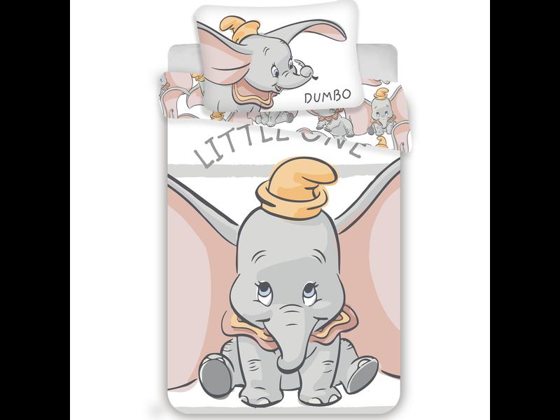 Disney Dumbo Housse de couette bébé Little One - 100 x 135 cm - Blanc