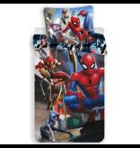 SpiderMan Dekbedovertrek Action - Eenpersoons - 140  x 200 cm - Multi