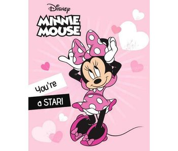 Disney Minnie Mouse Fleeceplaid Star 100 x 140 cm