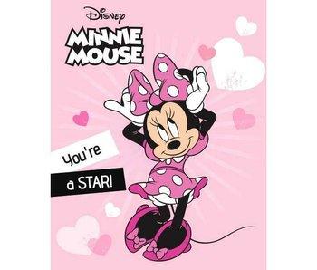 Disney Minnie Mouse Plaid polaire Star 100 x 140 cm
