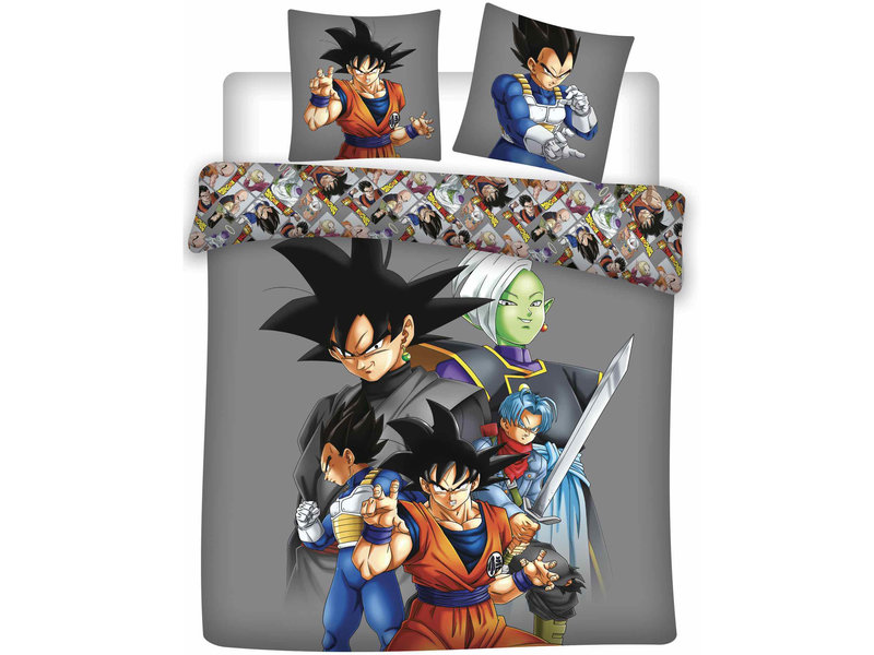 Dragon Ball Z Dekbedovertrek Goku - Lits Jumeaux - 240 x 220 cm - Grijs