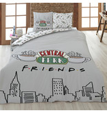 Friends Duvet cover Central Perk - Lits Jumeaux - 240 x 220 cm - Gray