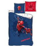 SpiderMan Dekbedovertrek Web - Eenpersoons - 140  x 200 cm - Katoen