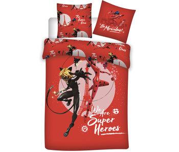 Miraculous Housse de couette Super Heroes 140 x 200
