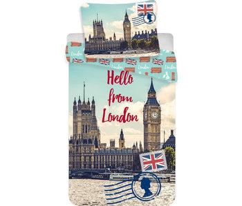 Londen Dekbedovertrek Postcard 140 x 200