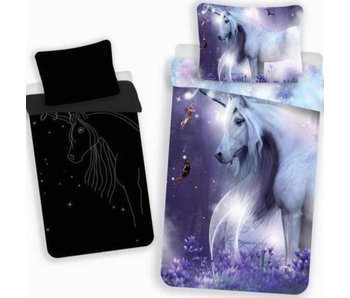Unicorn BABY Bettbezug Glow in the Dark 100 x 135 cm