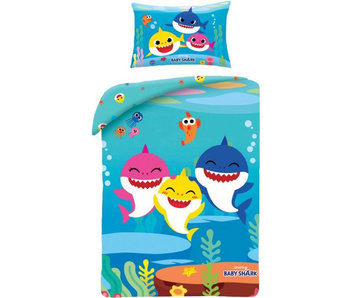 Baby Shark BABY Dekbedovertrek 100 x 135 cm