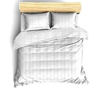 De Witte Lietaer Bettbezug Baumwolle Satin Zygo Weiß 240 x 220 cm