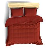 De Witte Lietaer Dekbedovertrek Katoen Satijn Zygo - Lits Jumeaux - 240 x 220 cm - Rood