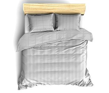 De Witte Lietaer Bettbezug Baumwolle Satin Zygo Silber 260 x 240 cm